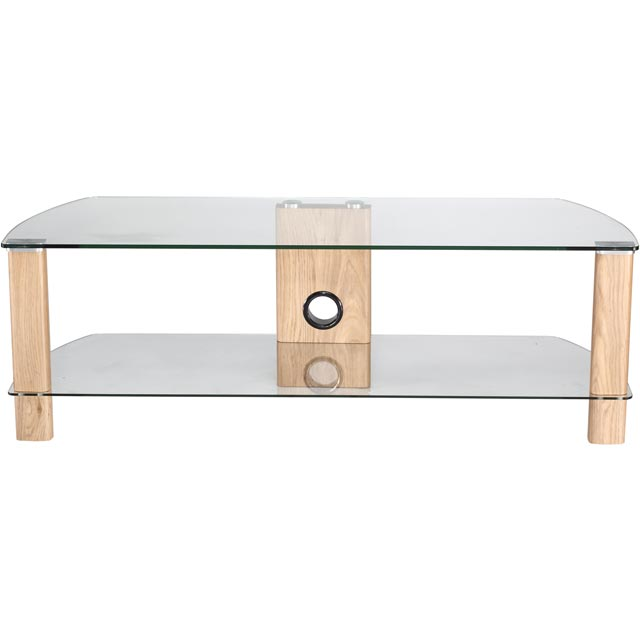 Alphason Century ADCE1200-LO 2 Shelf TV Stand - Light Oak - ADCE1200-LO - 1