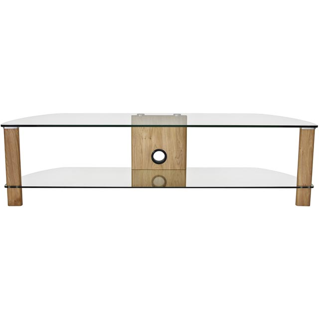 Alphason Century ADCE1500-LO 2 Shelf TV Stand - Light Oak - ADCE1500-LO - 1