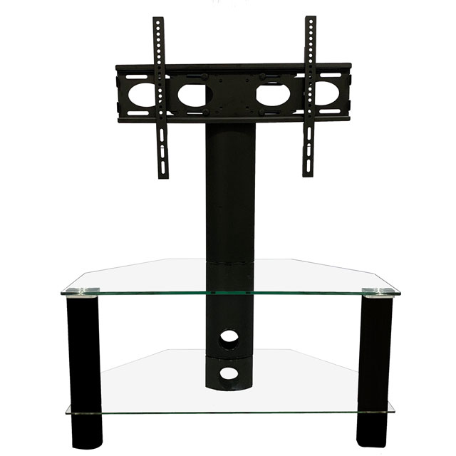 Image of Alphason ADCEC800BLK 2 Shelf TV Stand with Bracket - Black