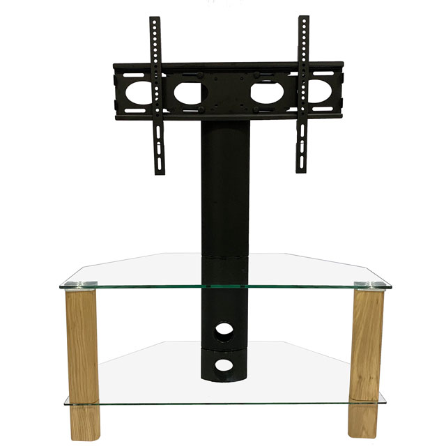 Image of Alphason ADCEC800LO 2 Shelf TV Stand with Bracket - Light Oak