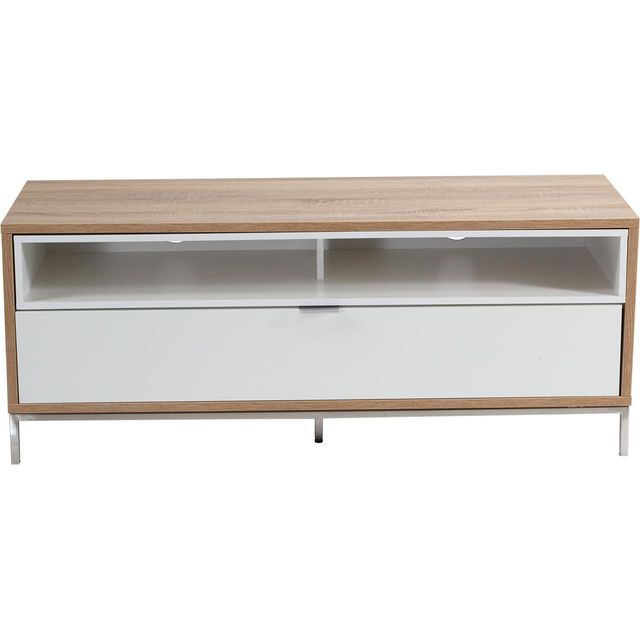 Alphason Chaplin ADCH1135-WHT 2 Shelf TV Stand - White - ADCH1135-WHT - 1