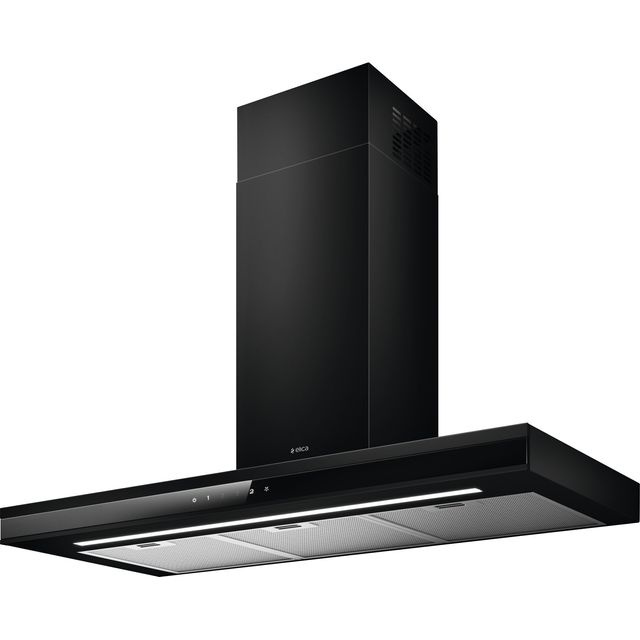 Image of Elica ADELE-BK-SS-90 90 cm Chimney Cooker Hood - Black / Stainless Steel - A Rated