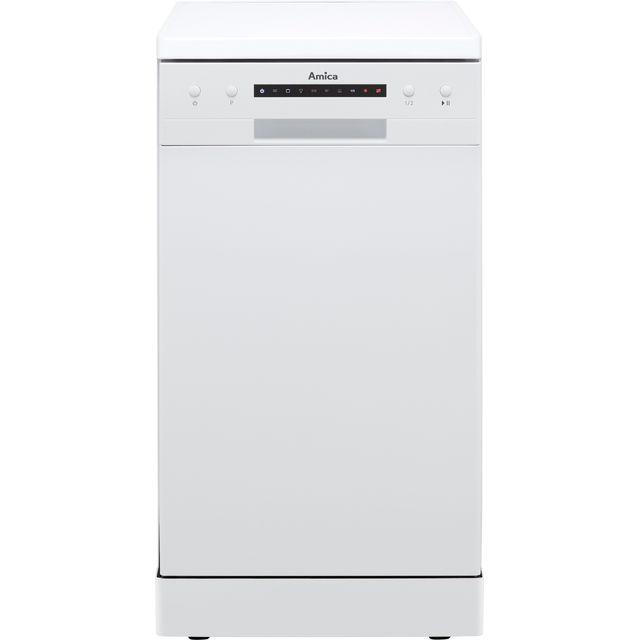 Amica ADF410WH Slimline Dishwasher - White - E Rated