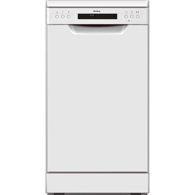 Amica ADF450WH Slimline Dishwasher - White - A++ Rated