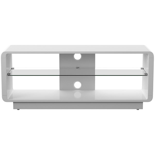 Alphason ADLU1200-WHT 1 Shelf TV Stand - White