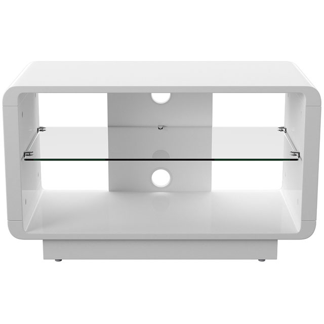Alphason ADLU800-WHT 1 Shelf TV Stand - White