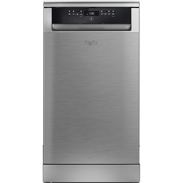 Whirlpool ADP502IXUK Slimline Dishwasher - Stainless Steel - A++ Rated - ADP502IXUK_SS - 1