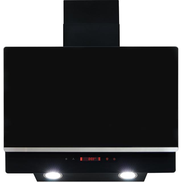 Amica AEA60BL 60 cm Chimney Cooker Hood - Black - B Rated