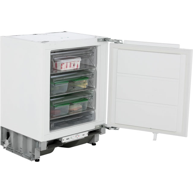 AEG ABE6822VAF Integrated Under Counter Freezer with Fixed Door Fixing Kit - A++ Rated - ABE6822VAF_WH - 1
