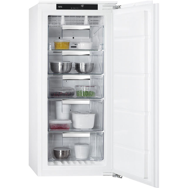 AEG Integrated Frost Free Upright Freezer with Fixed Door Fixing Kit - A++ Rated