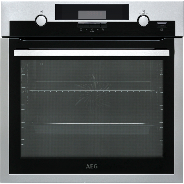 AEG BCS551020M Built In Electric Single Oven with added Steam Function - Stainless Steel - A+ Rated