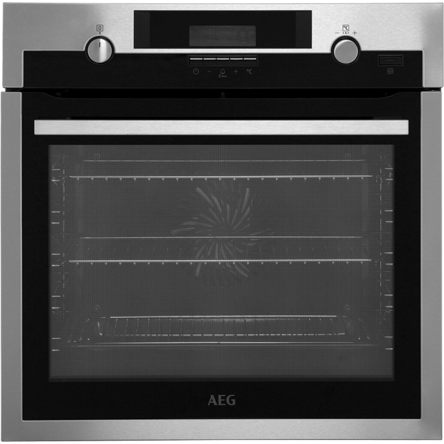 AEG Mastery BCS552020M Built In Electric Single Oven - Stainless Steel - A+ Rated - BCS552020M_SS - 1