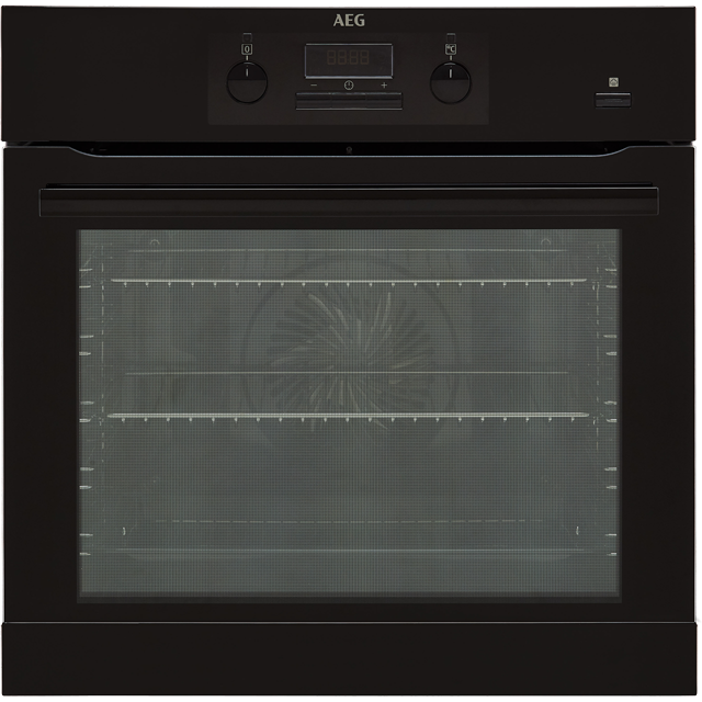 AEG Mastery BEB351010B Built In Electric Single Oven with added Steam Function - Black - A Rated - BEB351010B_BK - 1