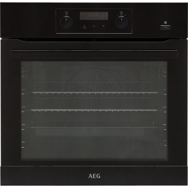 Image of AEG BEB355020B Built In Electric Single Oven with added Steam Function - Black - A+ Rated