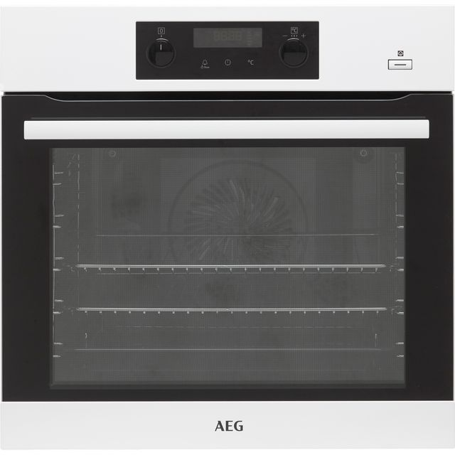 Image of AEG BEB355020W Built In Electric Single Oven with added Steam Function - White - A+ Rated