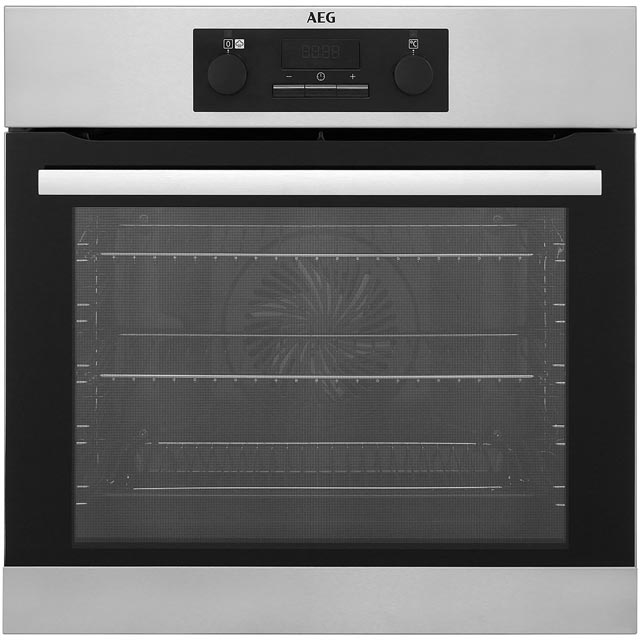 aeg logo aeg mastery bes25101lm built in electric single oven with added steam function