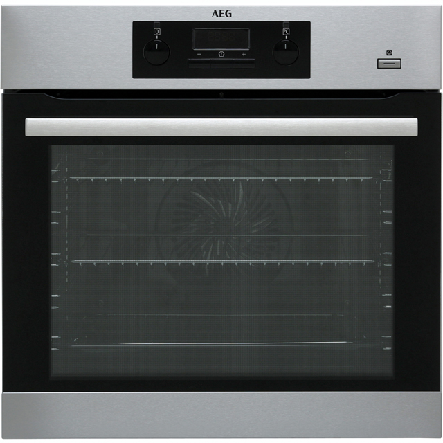 AEG BES351010M Built In Electric Single Oven with added Steam Function - Stainless Steel - A Rated - BES351010M_SS - 1