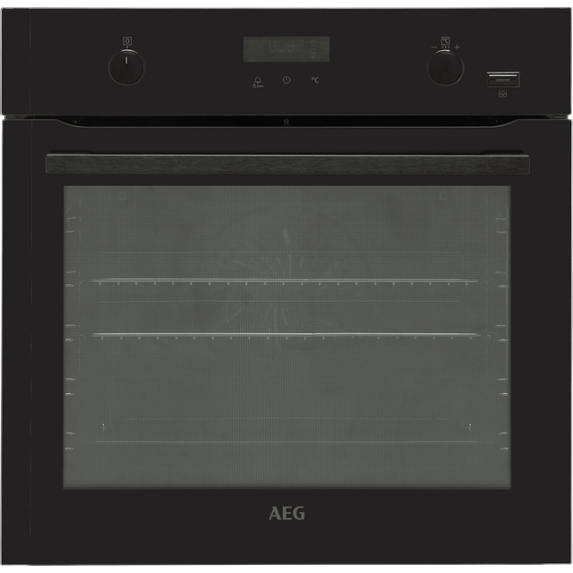 Image of AEG BPE556220B Built In Electric Single Oven - Black - A+ Rated