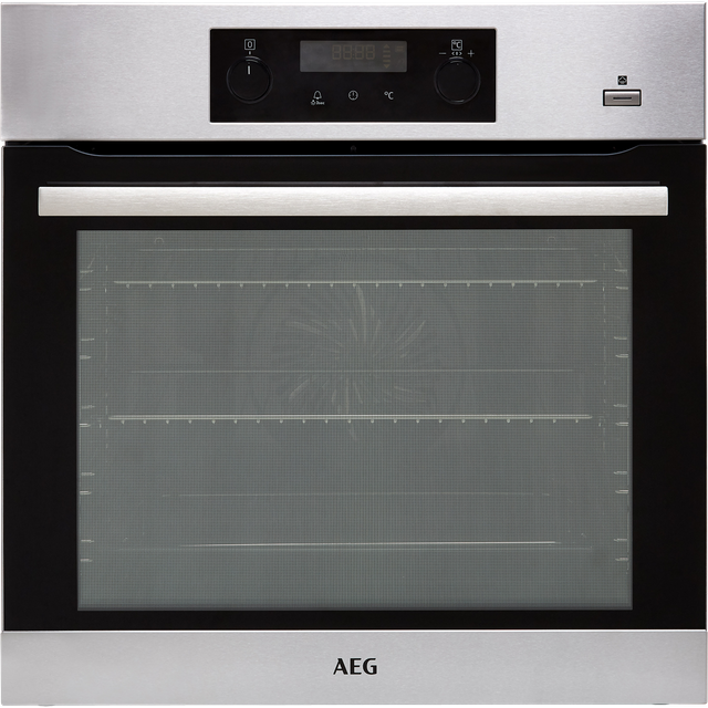 AEG BPS355020M Built In Electric Single Oven with added Steam Function - Stainless Steel - A+ Rated - BPS355020M_SS - 1