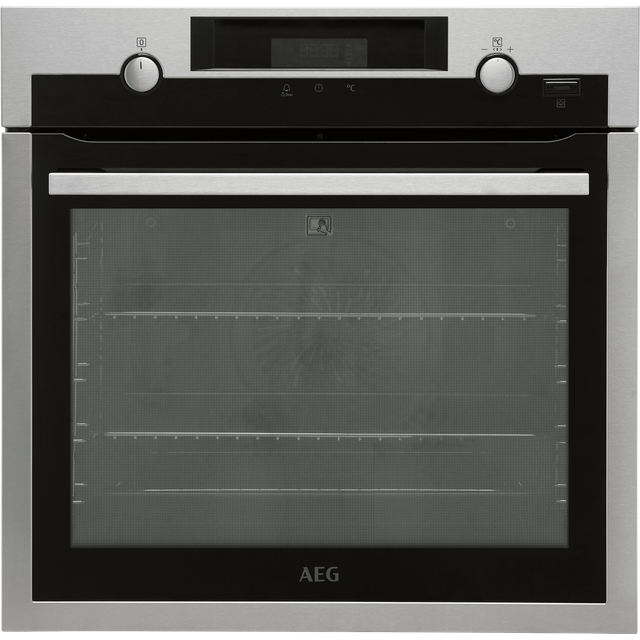 Image of AEG BPS556020M Built In Electric Single Oven - Stainless Steel / Black - A+ Rated