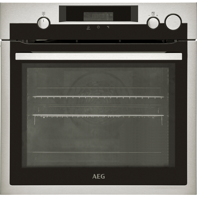 Image of AEG BSE577221M Built In Electric Single Oven with added Steam Function - Stainless Steel - A+ Rated