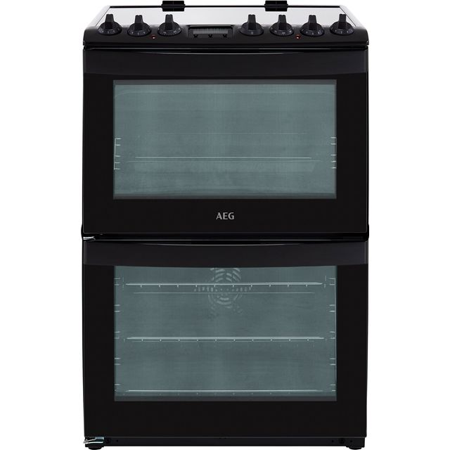 AEG CCB6740ACB 60cm Electric Cooker with Ceramic Hob - Black - A/A Rated - CCB6740ACB_BK - 1
