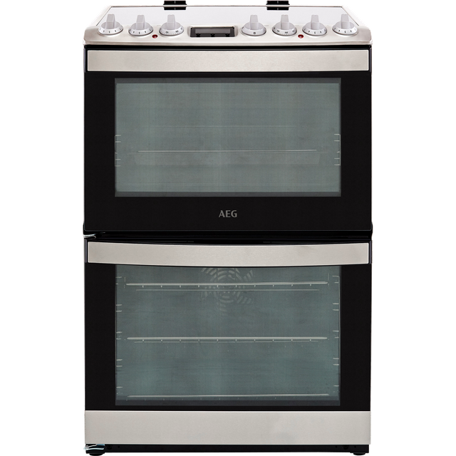 Image of AEG CCB6740ACM 60cm Electric Cooker with Ceramic Hob - Stainless Steel - A/A Rated