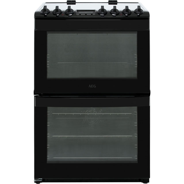 AEG Electric Cooker with Ceramic Hob - Black - A/A Rated