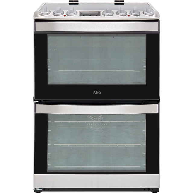 Image of AEG CIB6730ACM Electric Cooker with Induction Hob - Stainless Steel - A/A Rated