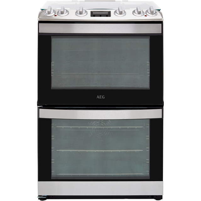 AEG CKB6540ACM 60cm Dual Fuel Cooker - Stainless Steel - A/A Rated - CKB6540ACM_SS - 1