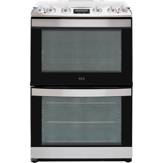 Image of AEG CKB6540ACM 60cm Dual Fuel Cooker - Stainless Steel - A/A Rated