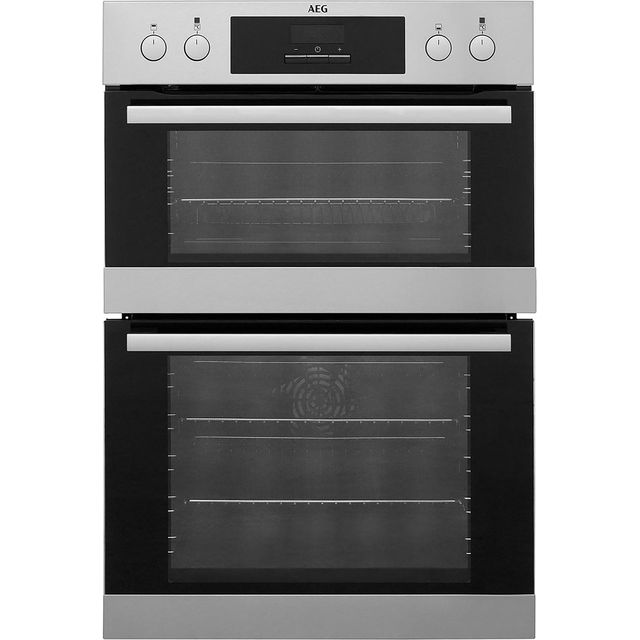 AEG DCB331010M Built In Double Oven - Stainless Steel - A/A Rated