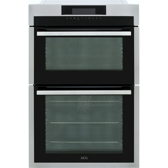 Image of AEG DCE731110M Built In Electric Double Oven - Stainless Steel - A/A Rated