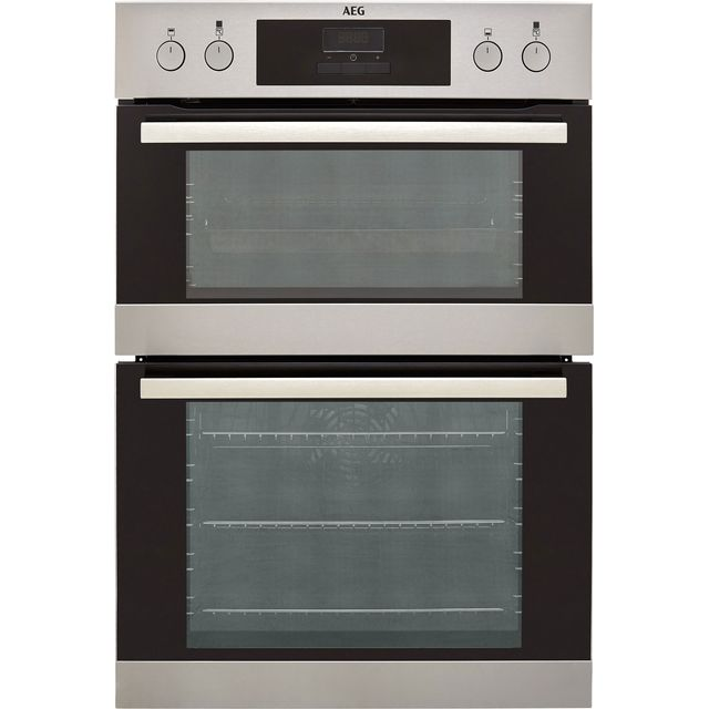Image of AEG DEB331010M Built In Electric Double Oven - Stainless Steel - A/A Rated