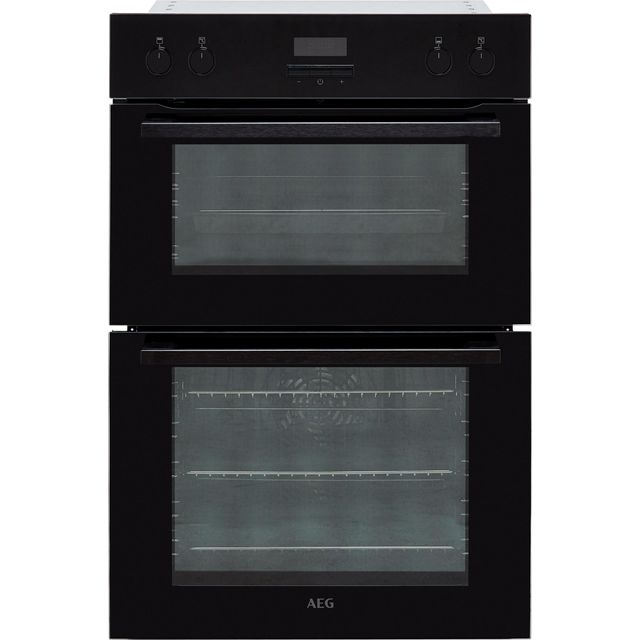 AEG DEE431010B Built In Double Oven - Black - A/A Rated - DEE431010B_BK - 1
