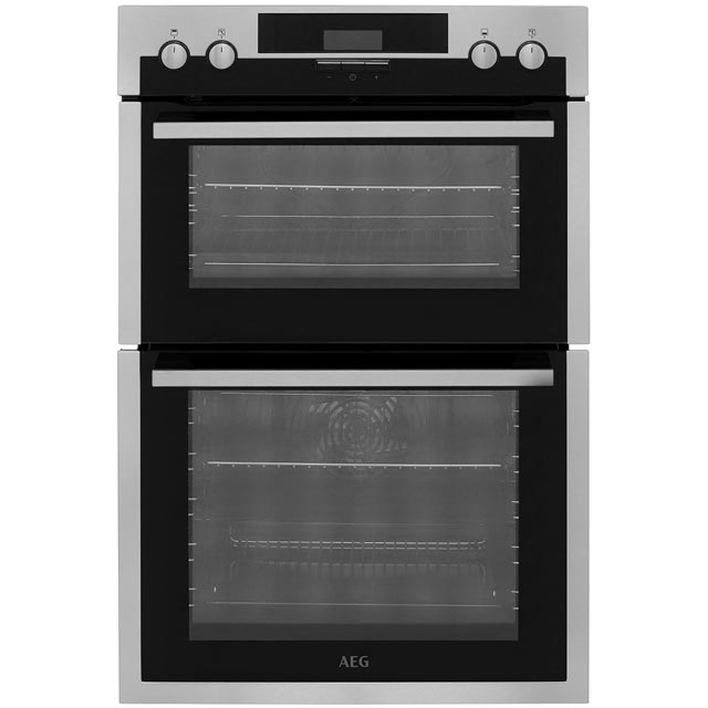 AEG DES431010M Built In Double Oven - Stainless Steel - A/A Rated - DES431010M_SS - 1