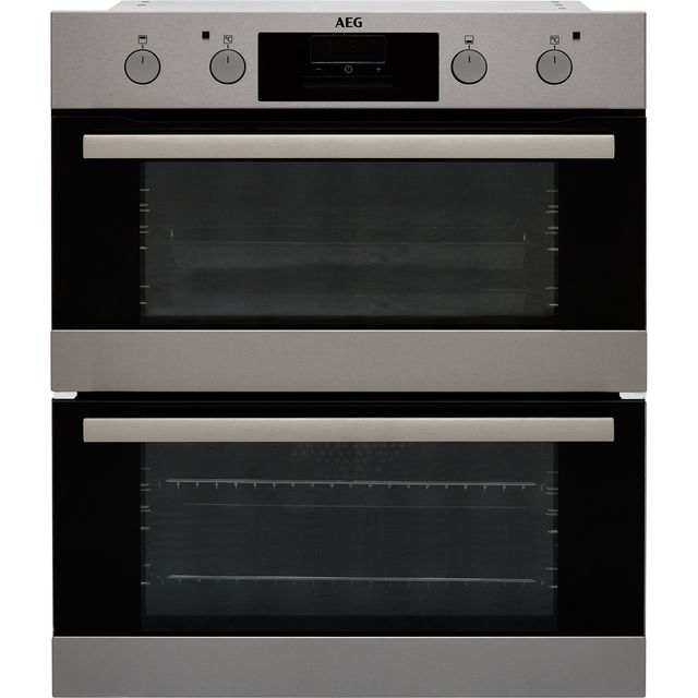 AEG Built Under Double Oven - Stainless Steel - A/A Rated