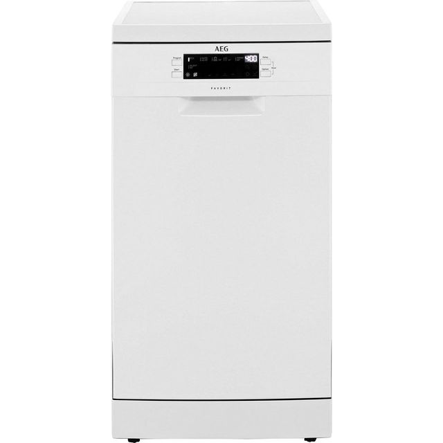 AEG FFB62400PW Slimline Dishwasher - White - A++ Rated - FFB62400PW_WH - 1