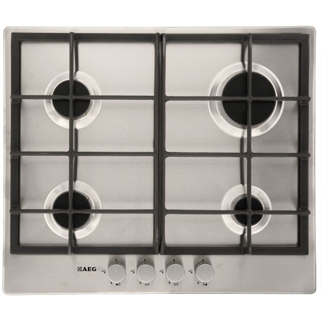 aeg competence hgnm cm gas hob stainless steel