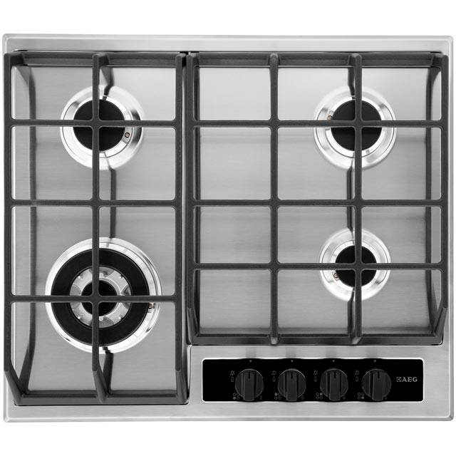 AEG HG65SY4550 60cm Gas Hob - Stainless Steel - HG65SY4550_SS - 1