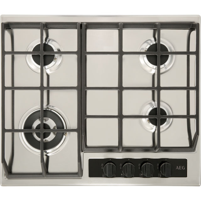 AEG HG65SY4551 60cm Gas Hob - Stainless Steel - HG65SY4551_SS - 1