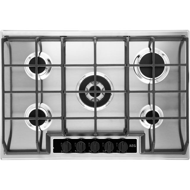 AEG HG75SY5451 74cm Gas Hob - Stainless Steel - HG75SY5451_SS - 1