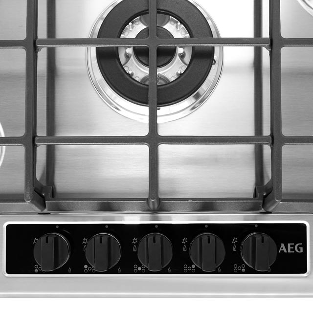 AEG HG75SY5451 Built In Gas Hob - Stainless Steel - HG75SY5451_SS - 2