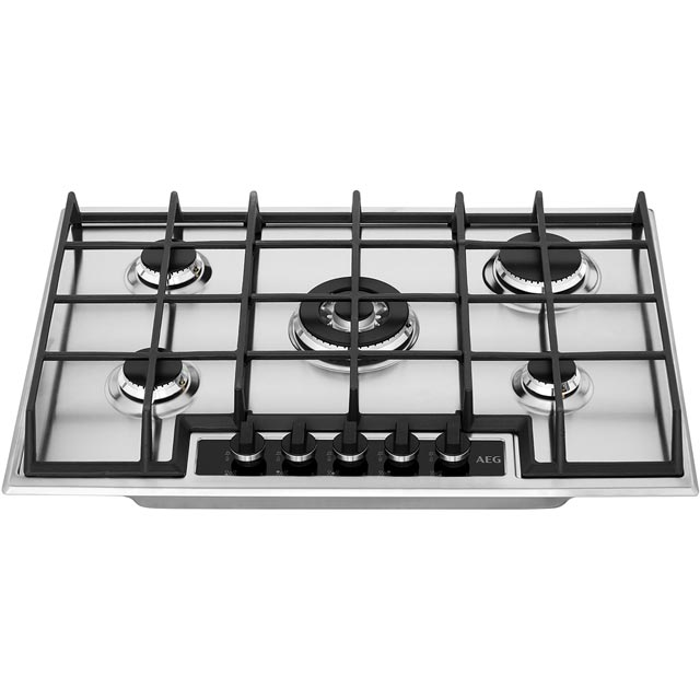 AEG HG75SY5451 Built In Gas Hob - Stainless Steel - HG75SY5451_SS - 4