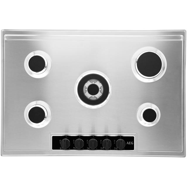 AEG HG75SY5451 Built In Gas Hob - Stainless Steel - HG75SY5451_SS - 5