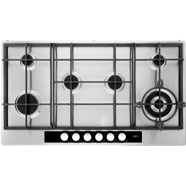 AEG Competence HG956440SM 89cm Gas Hob - Stainless Steel - HG956440SM_SS - 1