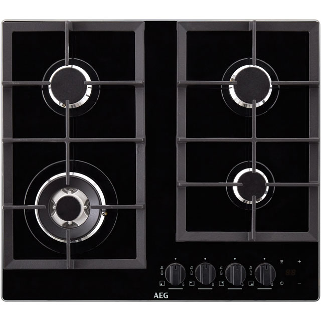 AEG HKB64NB540 59cm Gas Hob - Black