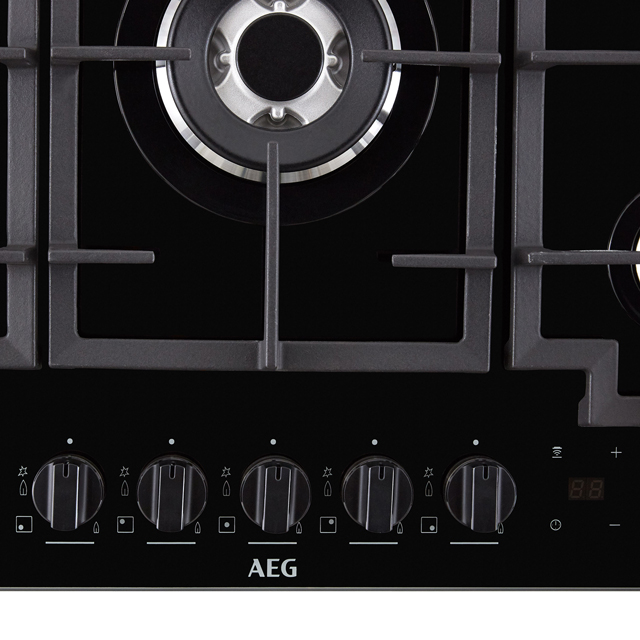 AEG HKB75NB540 Built In Gas Hob - Black - HKB75NB540_BK - 4