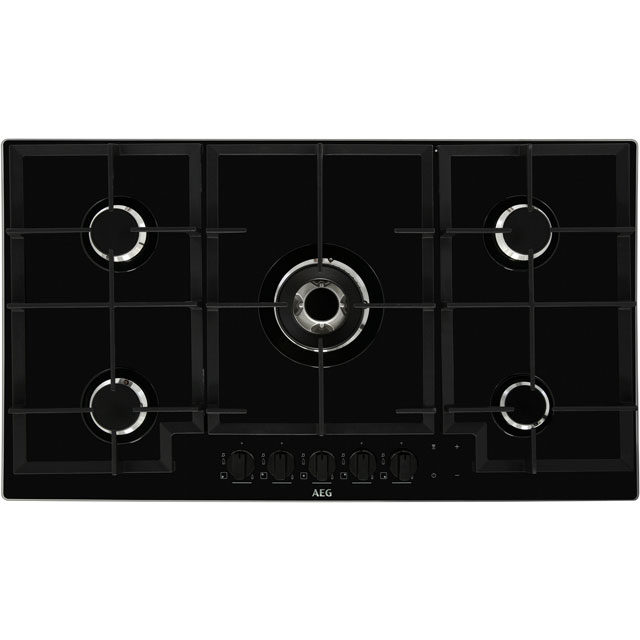 AEG HKB95540NB 88cm Gas Hob - Black