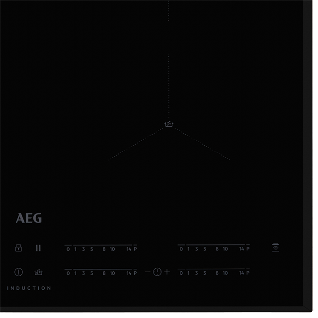 AEG IAE64411FB Built In Induction Hob - Black - IAE64411FB_BK - 3
